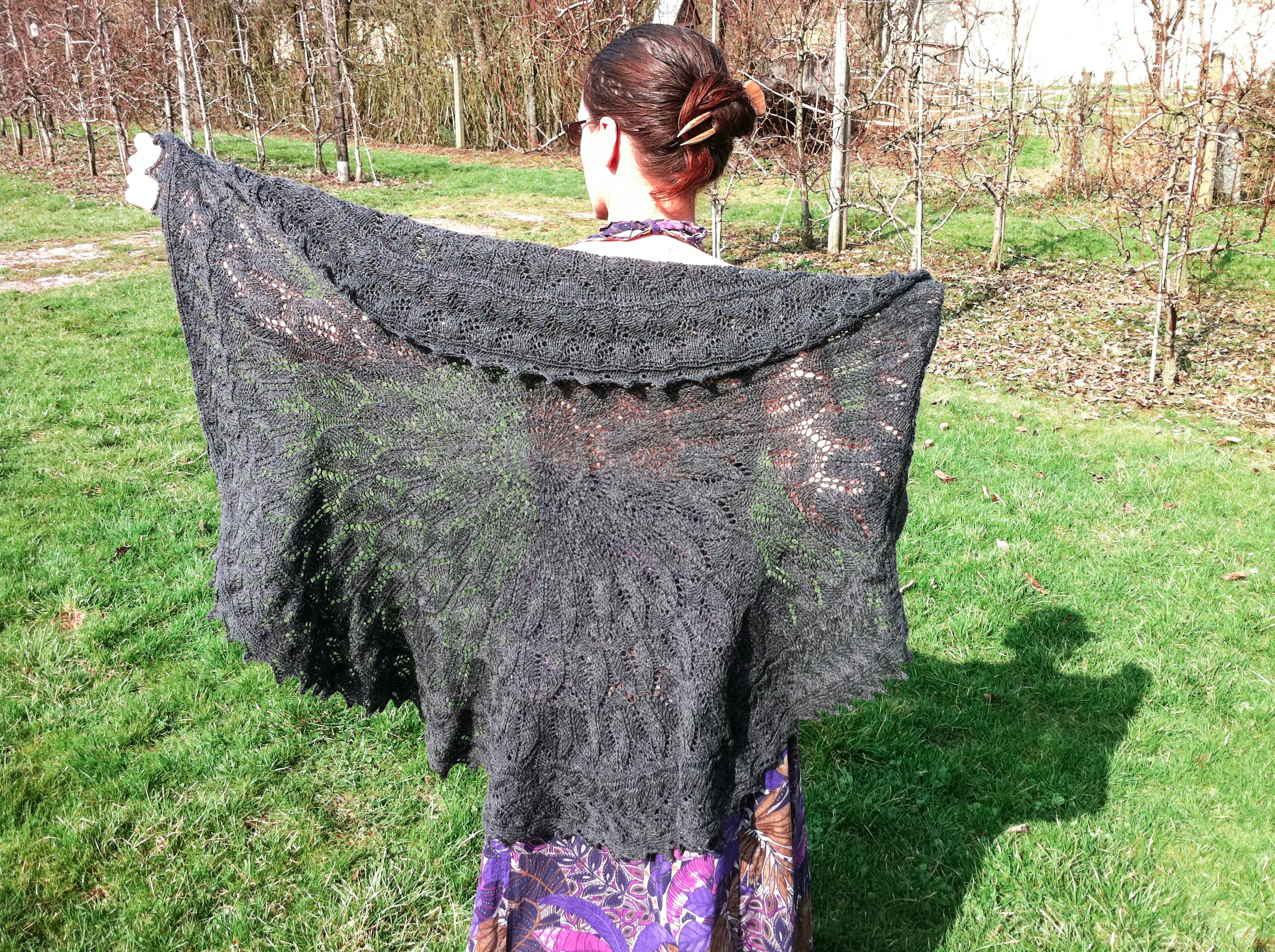 Awesome Faroese Shawl Knitting Pattern Gift - Sewing Pattern for ...