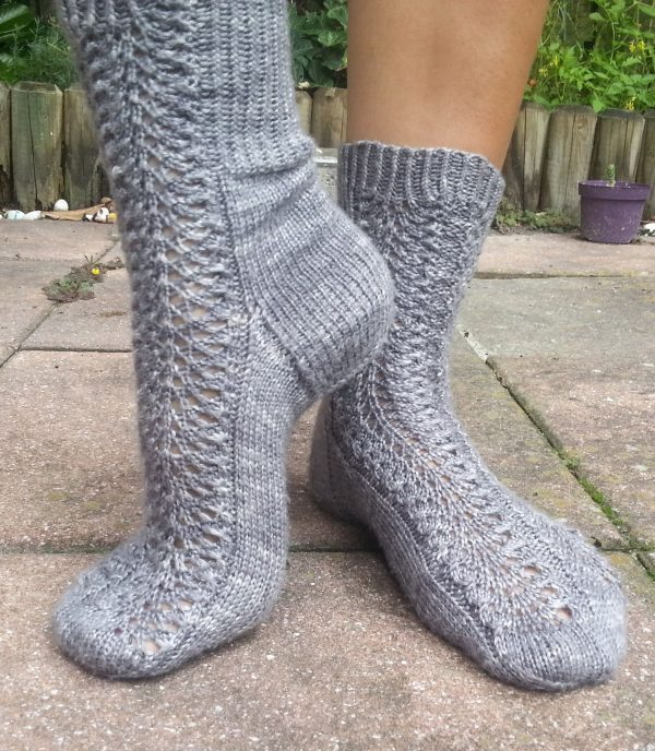 Nano Flowers Sock Knitting Pattern