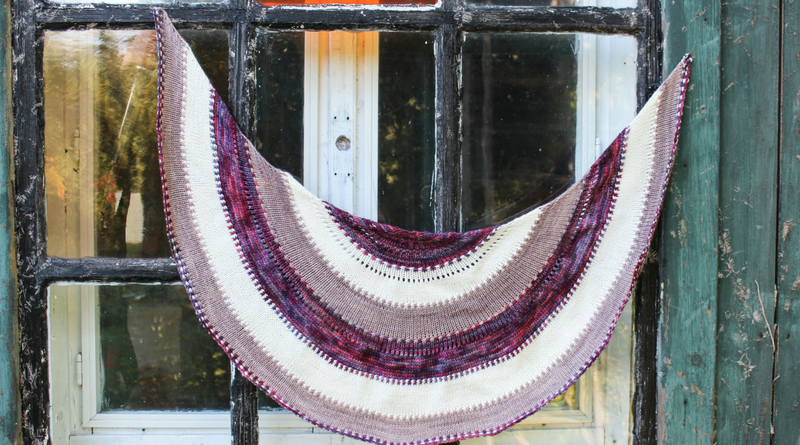 How to Knit Short Row Crescent Shawls