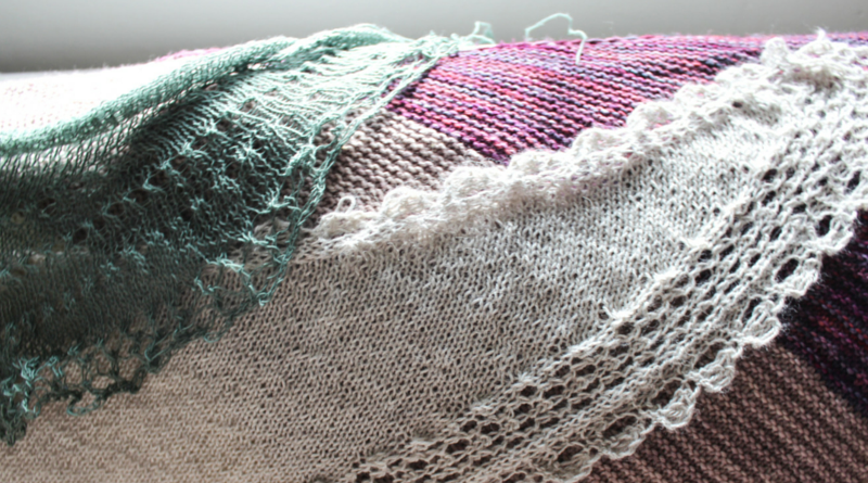 How to Knit Square Shawls Diagonally