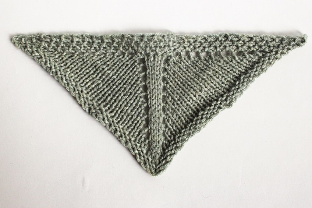 Triangle Shawl Design: Using Center Panels