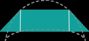 Shawl Shapes Trapezoid Crescent