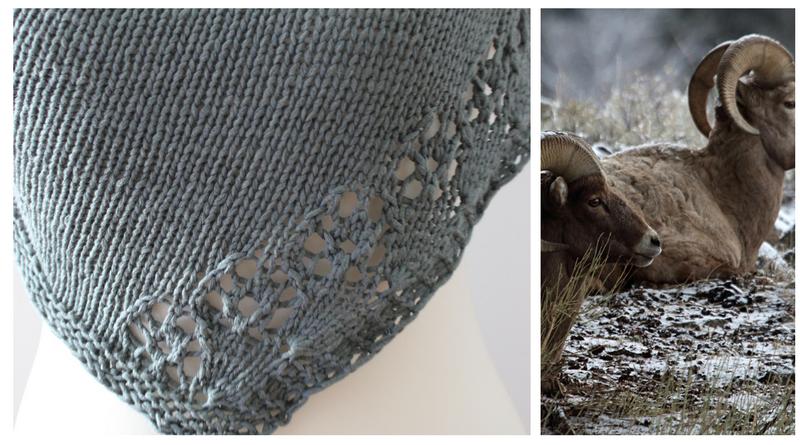 Cornucopia shawl design