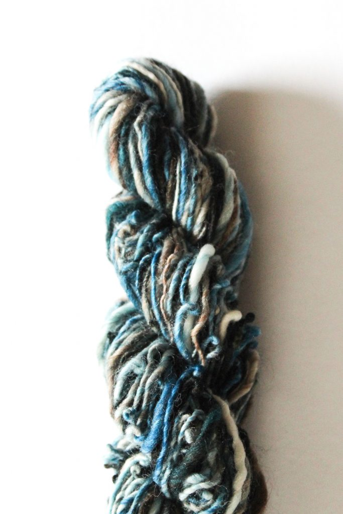 Knitting with hand spun yarns