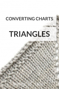 Converting charts for triangle shawls
