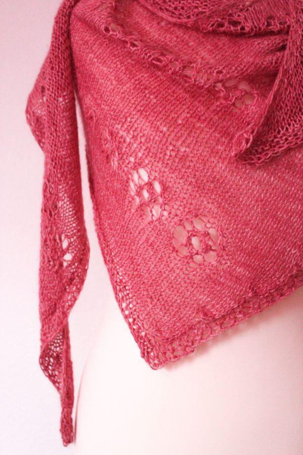 Powder Pink Cornucopia Shawl