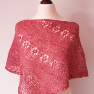 Powder Pink Cornucopia Shawl