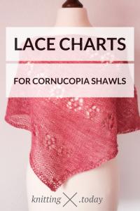 Lace Knitting Charts for Cornucopia Shawls