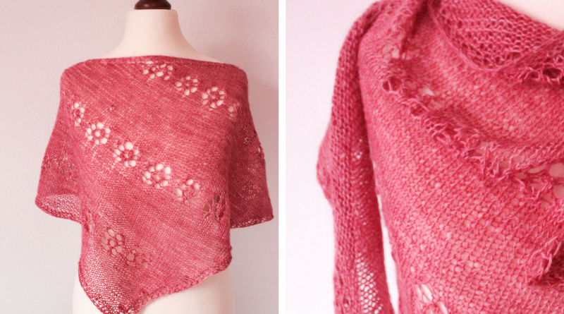 Powder Pink Cornucopia Shawl newest shawl knitting pattern