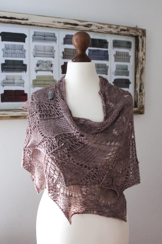 Plant Anatomy Mauve Shades shawl