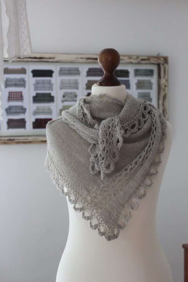 Cell Vortex shawl knitting pattern