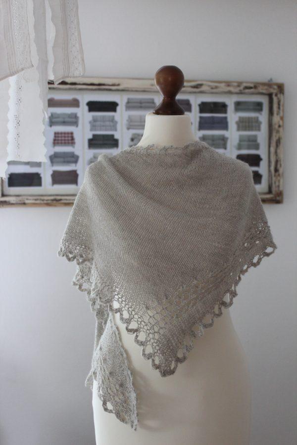Cell Vortex shawl knitting pattern