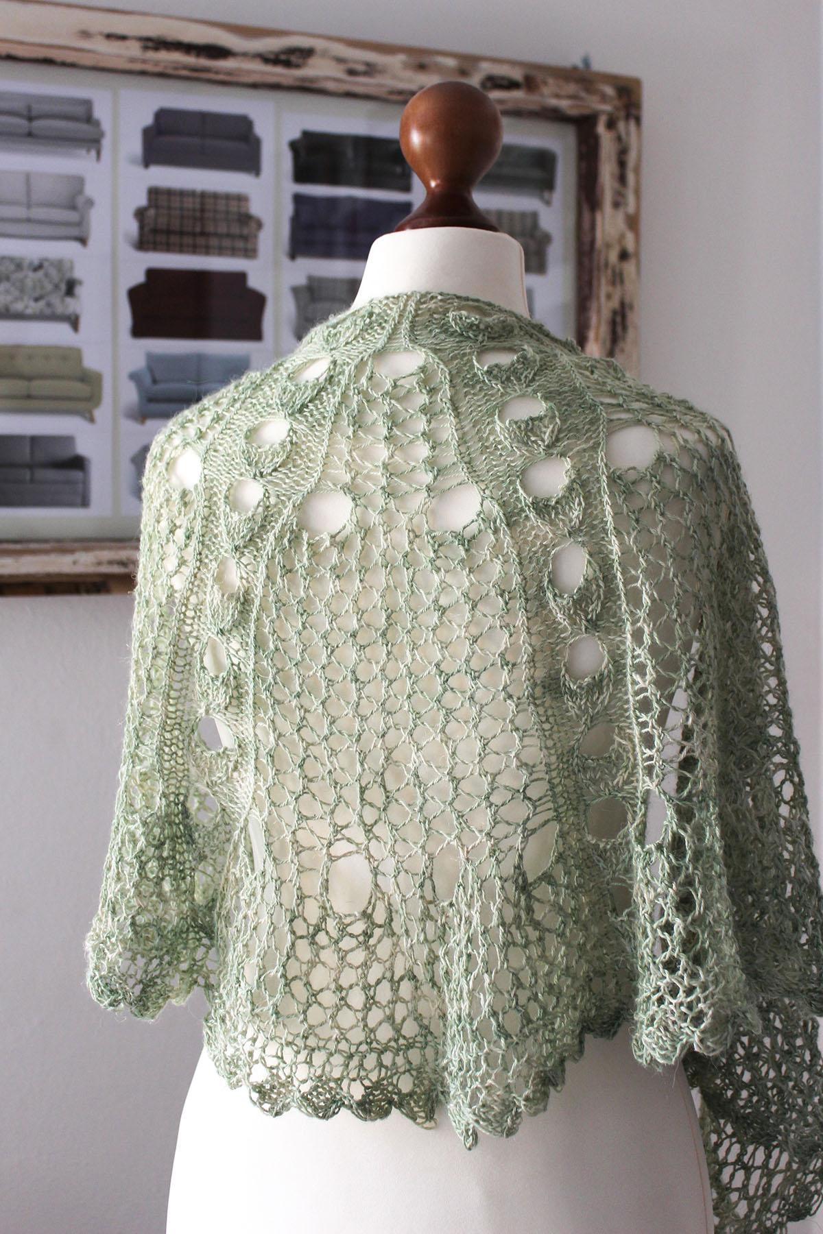Plant Anatomy Green Linen shawl
