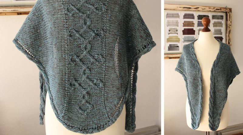 Meet the Aegean Sea shawl knitting pattern