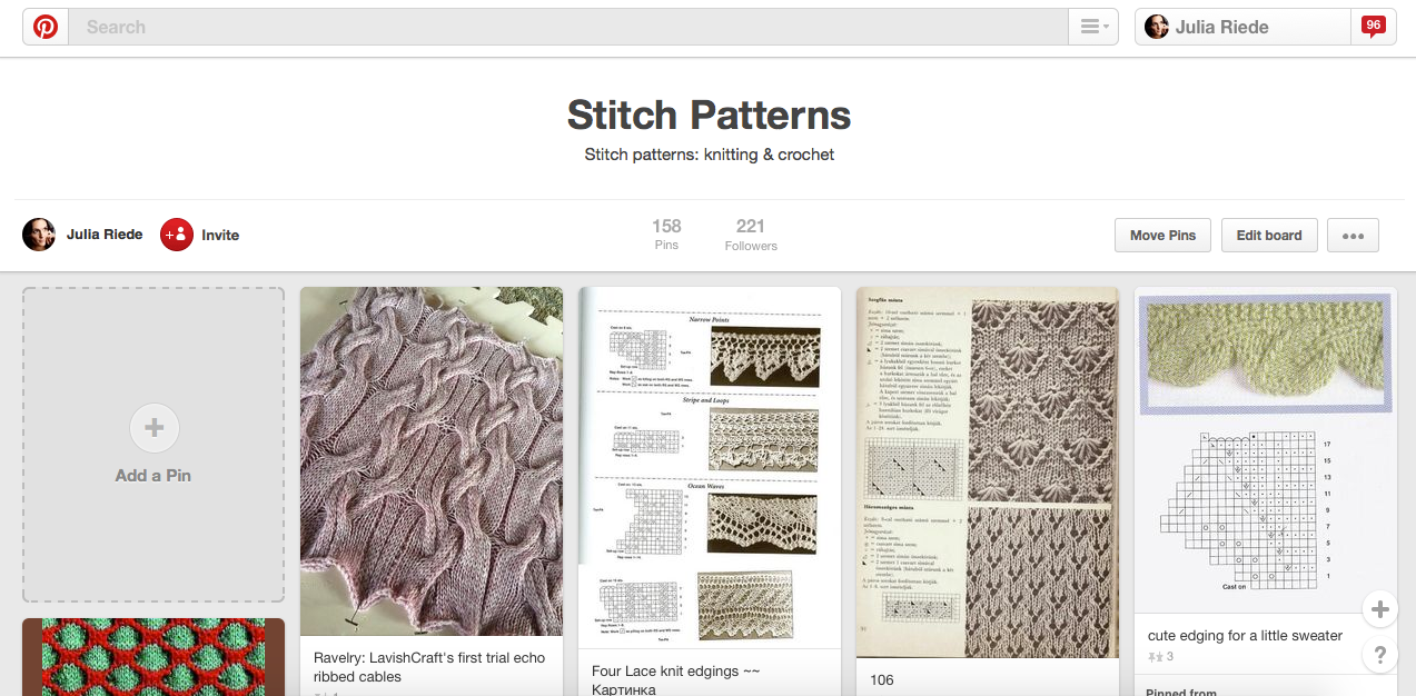How to find knitting stitch patterns