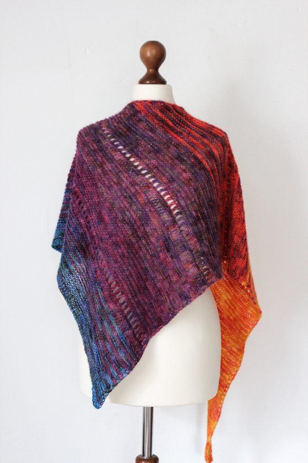 Woodstock Anniversary shawl knitting pattern