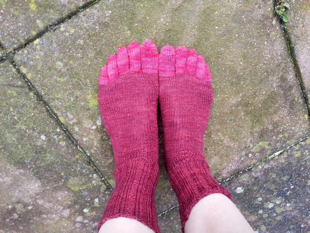 Knitted Socks Toe Shaping