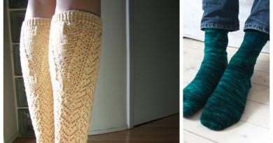 Sock Knitting: About Knitting Sock Cuffs