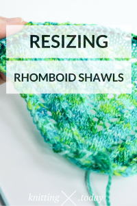Resizing Rhomboid Shawls - Adjustable Rhomboid Shawls