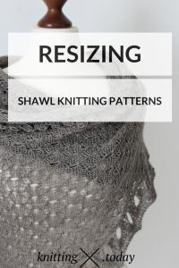 Resizing Shawl Knitting Patterns