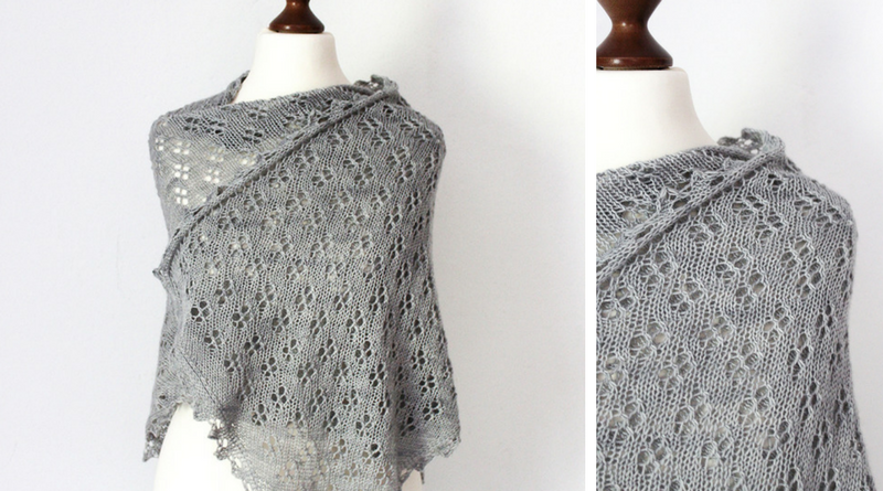 Allium Fog shawl knitting pattern release