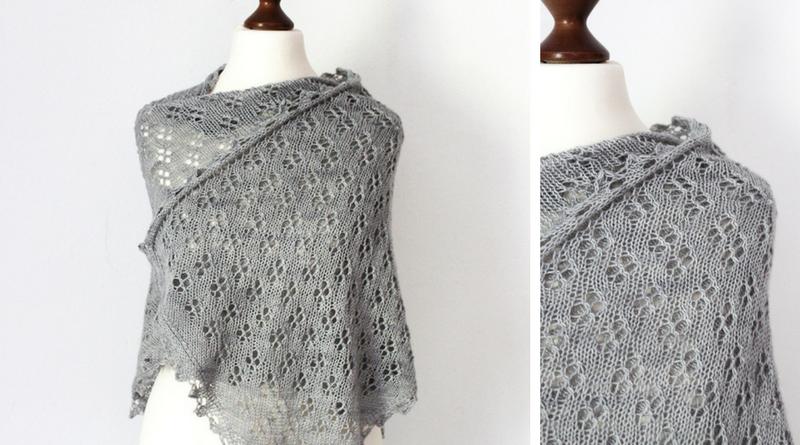 Allium Fog shawl knitting pattern release