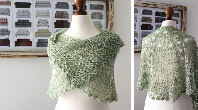 Green Linen shawl knitting pattern release