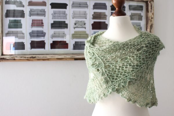 Green Linen Shawl (Knitting Plant Anatomy 2)
