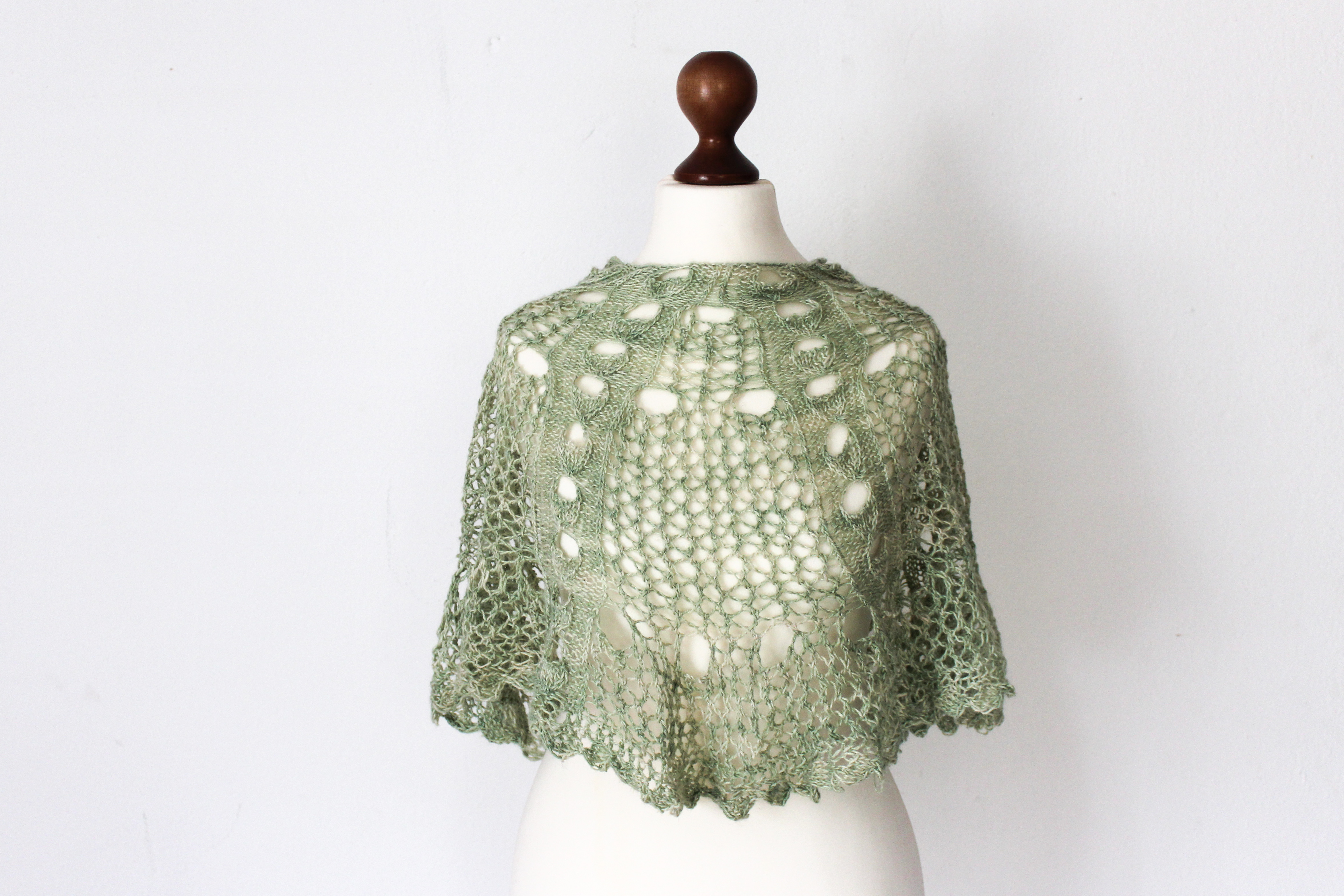 Green Linen Shawl (Knitting Plant Anatomy 2)