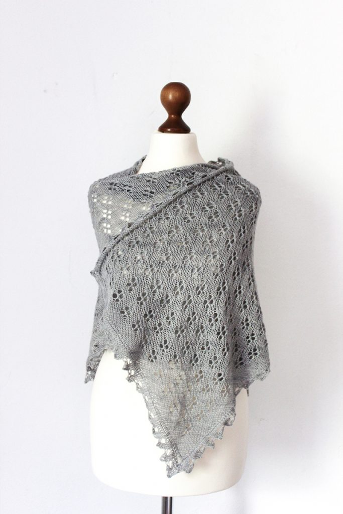 Allium Fog shawl