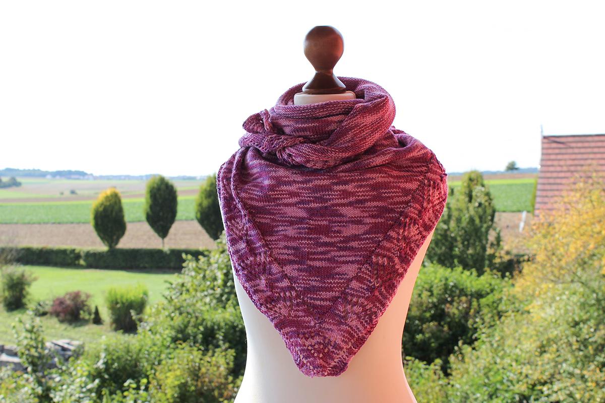 Progress shawl knitting pattern