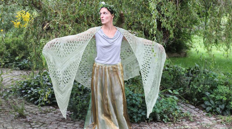 Indulgent Pear shawl knitting pattern