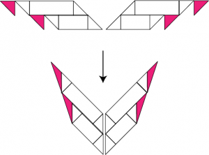 Construction of kite shawls: sample increase section