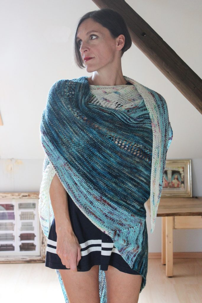 Along the Way shawl knitting pattern