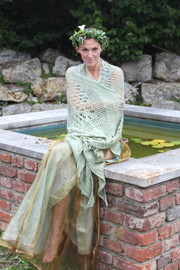 Indulgent Pear shawl knitting pattern