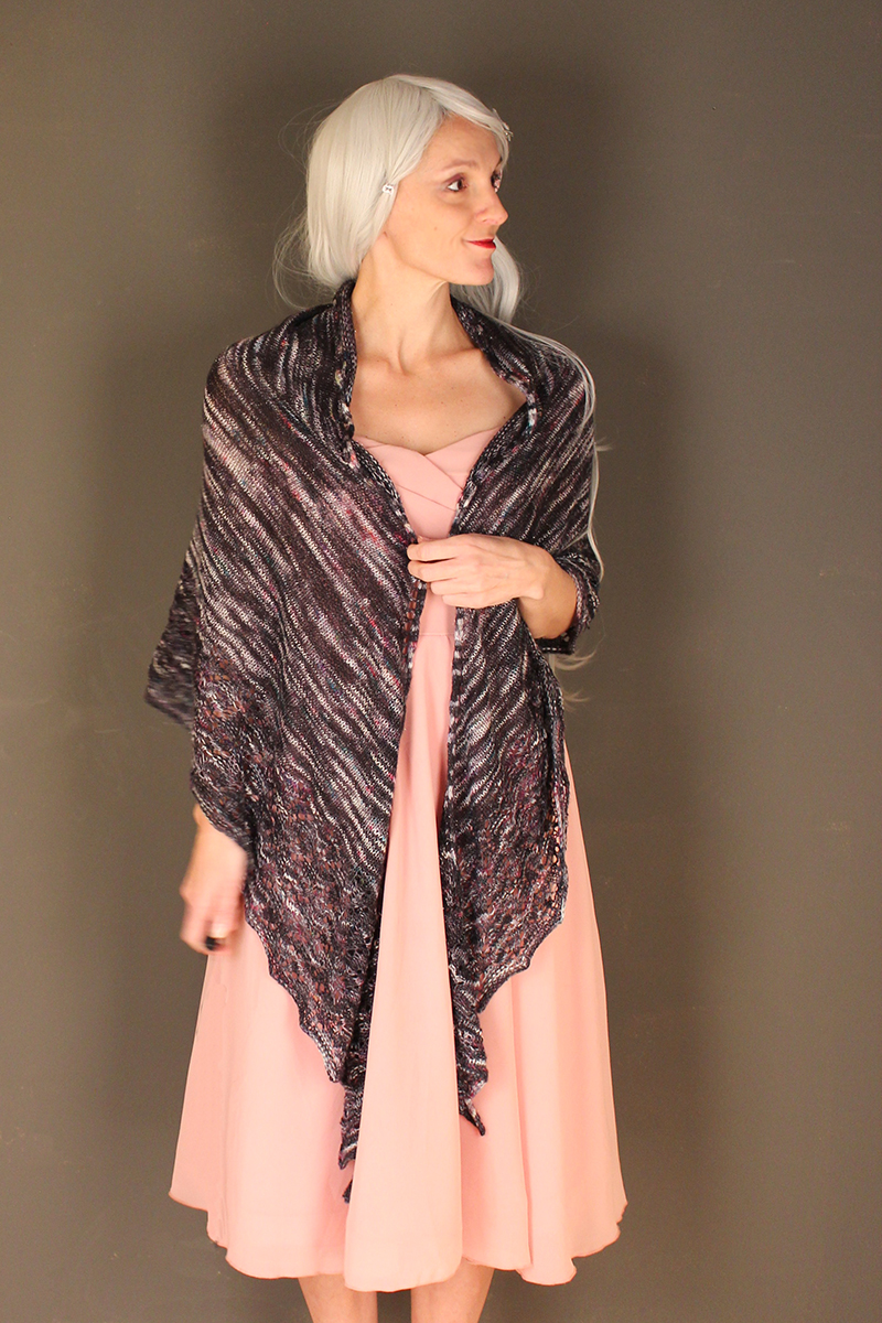 Rapture Unicorn shawl knitting pattern