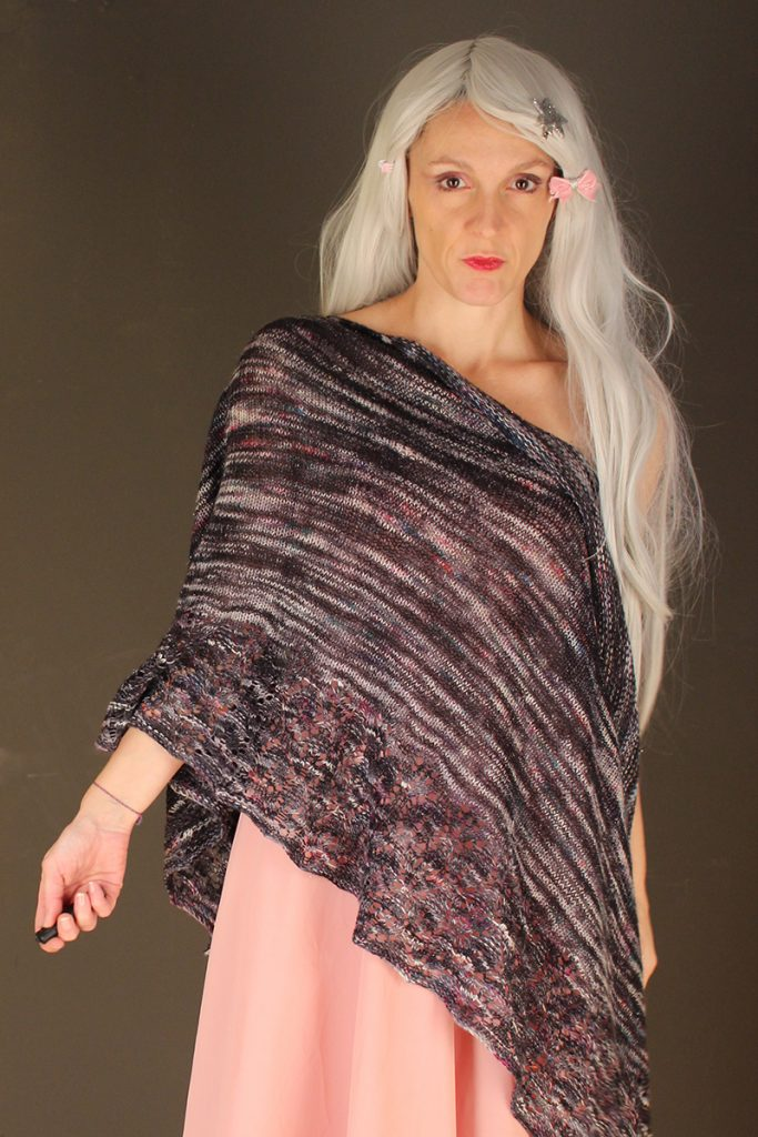 Rapture Unicorn shawl knitting pattern
