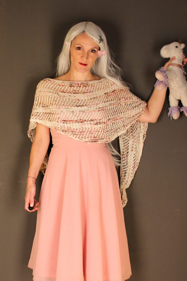 Baby Unicorn shawl knitting pattern
