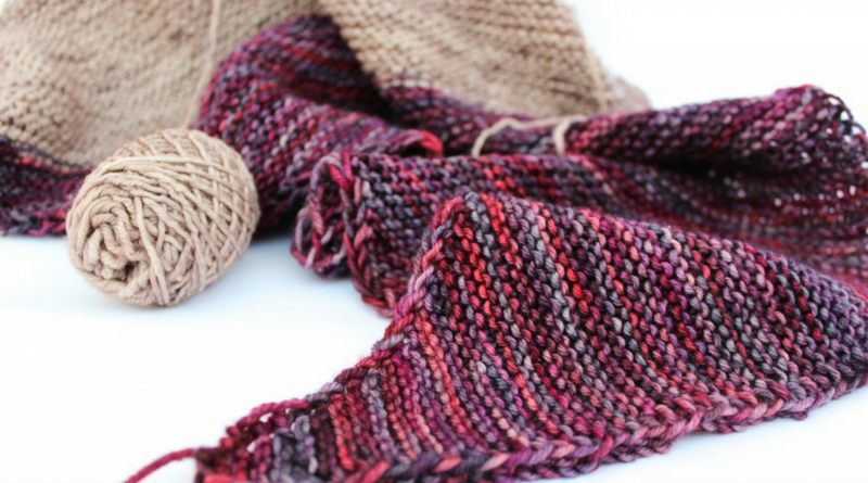 Knitting garter stitch shawls from stash