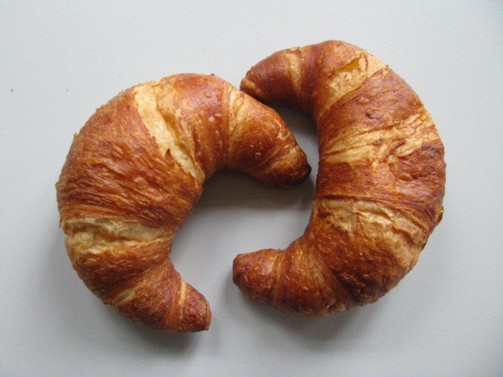 Crescent shawls and Croissants