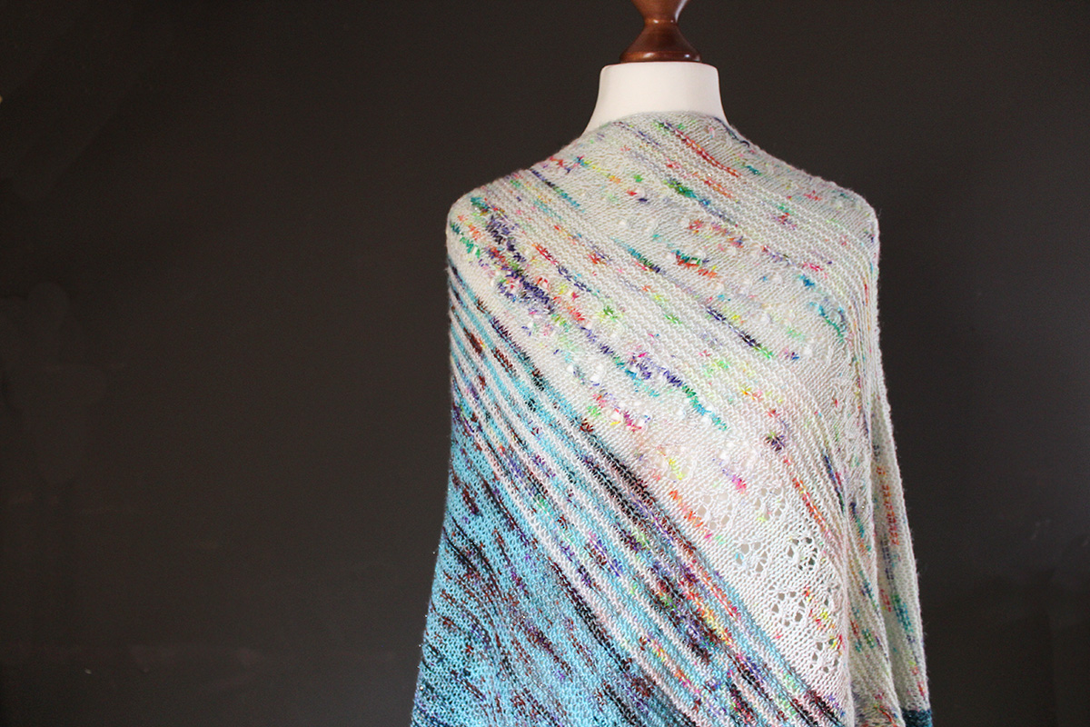 Lazy Unicorn shawl knitting pattern
