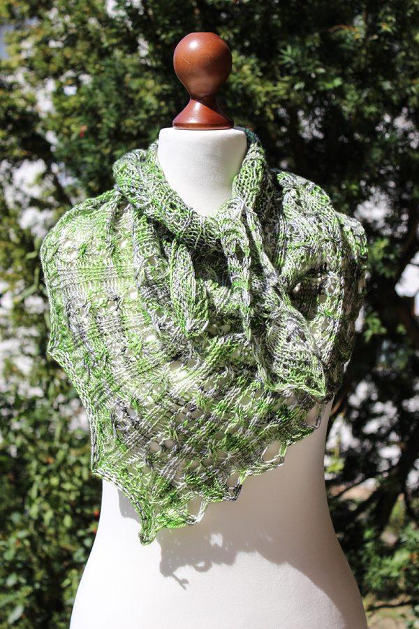 Allegra shawl - Knitting, Watching Cronenberg
