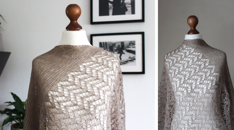 Autumn in Grey shawl knitting pattern