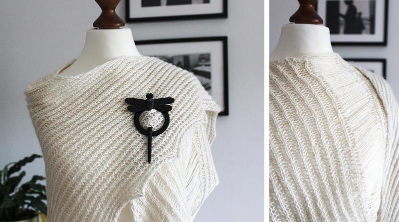 Offwhite Landscapes shawl knitting pattern