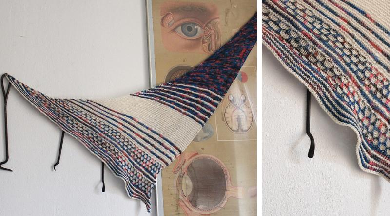 Color Blocking II shawl knitting pattern by Julia Riede