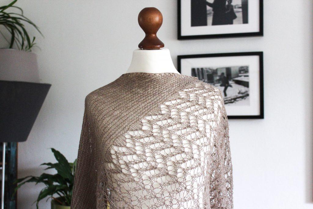 Autumn in Grey shawl knitting pattern