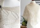 White Madeira shawl