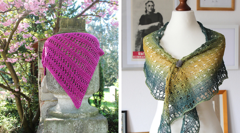 Two new shawl knitting patterns