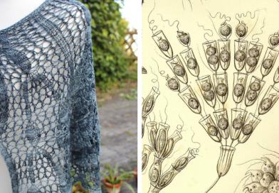Poteridendron Petiolatum shawl knitting pattern release