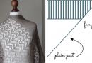 Shawl Shape Details - Triangles Worked Sideways